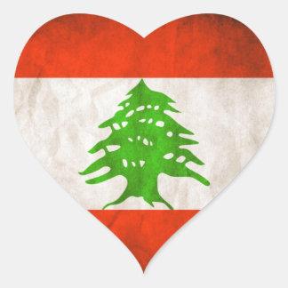 Grungy Lebanon Flag Sticker