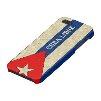 Grungy linen look Cuba Libre iPhone 5 Cover