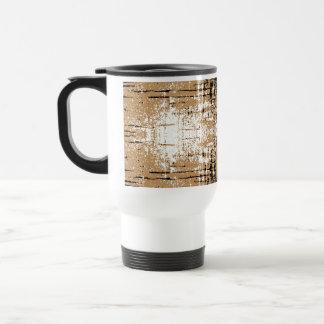 Grungy Look Brown Abstract. Travel Mug