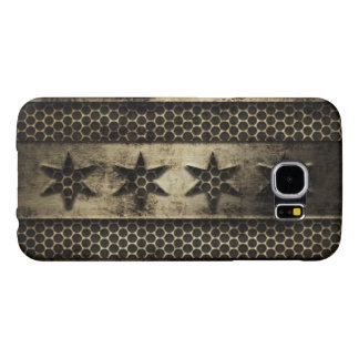 Grungy Metal Chicago Flag Samsung Galaxy S6 Cases