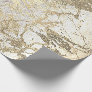 Grungy Molten Gold Pearly Marble Shiny Metallic Wrapping Paper