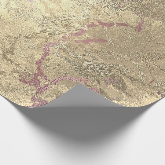 Grungy Molten Rose Sepia Gold Pink Marble Metal