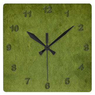Grungy Moss Green Clocks