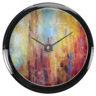 Grungy Oil Abstract Fish Tank Clock