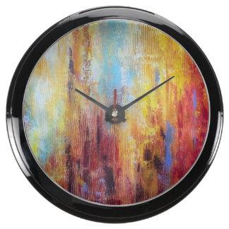 Grungy Oil Abstract Fish Tank Clock