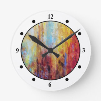 Grungy Oil Abstract Clocks