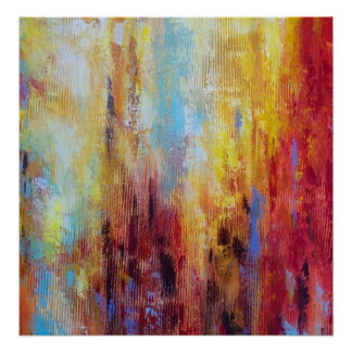 Grungy Oil Abstract Poster