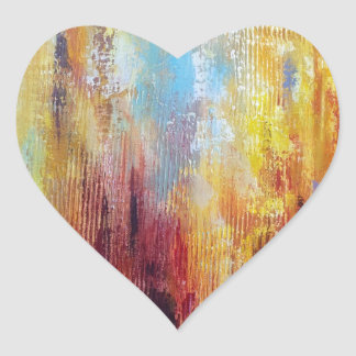 Grungy Oil Abstract Heart Sticker