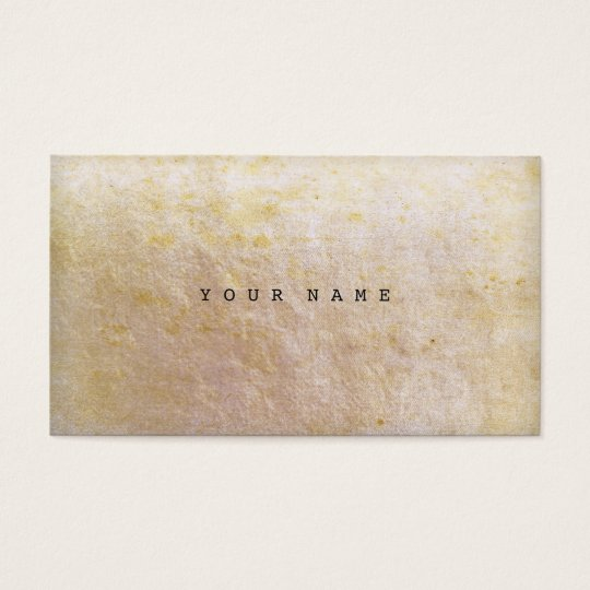 Grungy Old Gold Ivory Vip Business Card