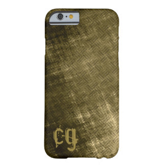 Grungy olive khaki black tweed fabric look men's barely there iPhone 6 case