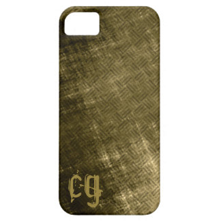 Grungy olive khaki black tweed look men's iPhone 5 covers