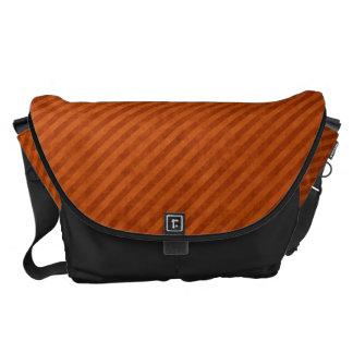 Grungy Orange Pinstripe Pattern Commuter Bag