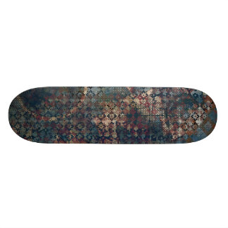 Grungy Patterns with Messy Patchwork of Textures Skate Board