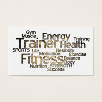 Grungy Personal Trainer Business Card
