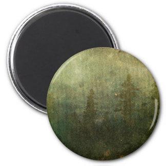 Grungy Pine Forest 6 Cm Round Magnet