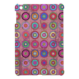 Grungy Pink Retro Circle Pattern Case For The iPad Mini