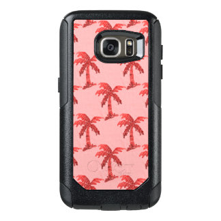 Grungy Pink Sequin Palm Tree Image OtterBox Samsung Galaxy S7 Case