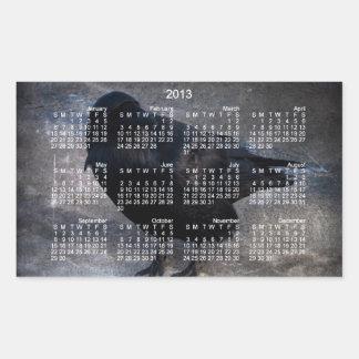 Grungy Raven; 2013 Calendar Rectangular Sticker