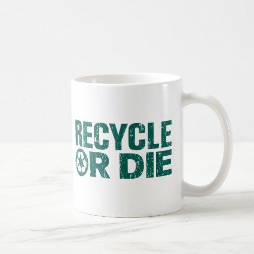 grungy recycle coffee mug