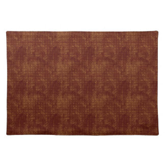 Grungy Red and Gold Floral Pattern Placemats