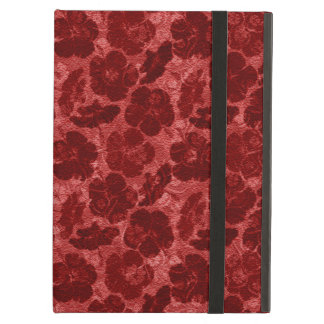 grungy red floral powis ipad case