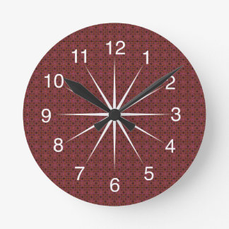 Grungy Red Tiles Wall Clock