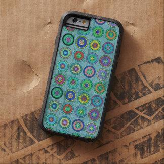 Grungy Retro Blue Circle Pattern Tough Xtreme iPhone 6 Case