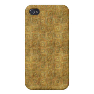 Grungy Retro Yellow Pern iPhone 4/4S Cases