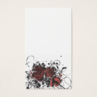 Grungy roses Business Card