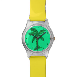 Grungy Sequined Palm Tree Image Watch