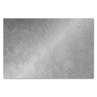Grungy Silver Minimal Abstract VIP Industrial Tissue Paper