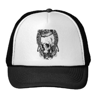 Grungy skull design hat