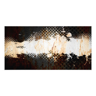 Grungy Splatter Design Photo Greeting Card