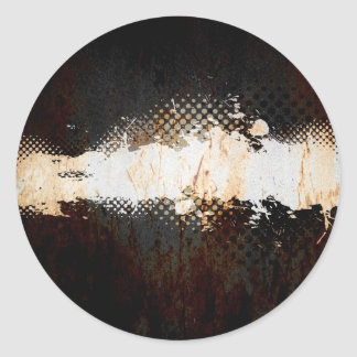 Grungy Splatter Design Stickers