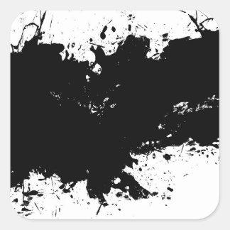 Grungy Splattered Ink Background Sticker