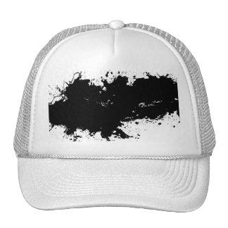 Grungy Splattered Ink Background Trucker Hat