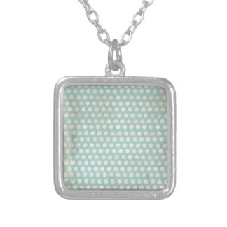 grungy stained teal polka dots jewelry