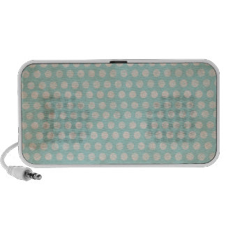grungy stained teal polka dots speakers