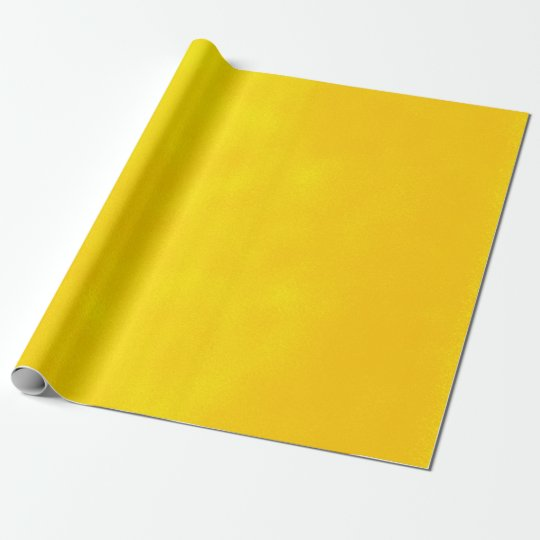 Grungy Styled Smudge Bright Yellow Wrapping Paper