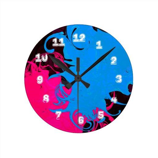 Grungy Swirls Wall Clock