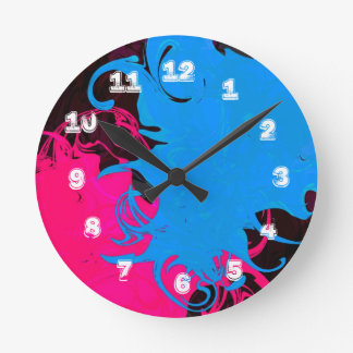 Grungy Swirls Wall Clock