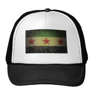 Grungy Syria Flag Mesh Hats