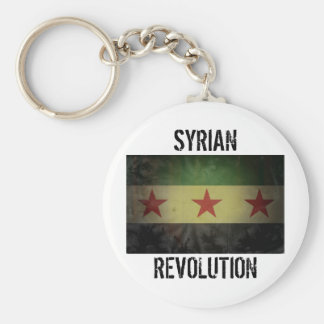 "Grungy Syria Flag ""Syrian Revolution"" Key Ring"