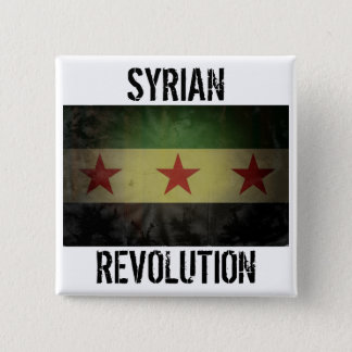 "Grungy ""Syrian Revolution"" Syria Flag 15 Cm Square Badge"