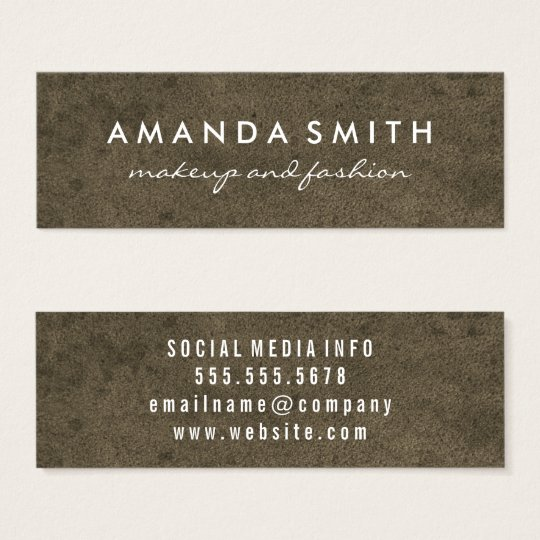 Grungy Texture Mini Business Card