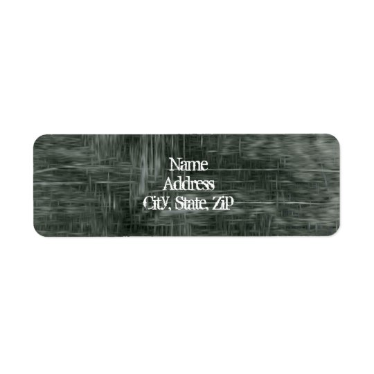 Grungy threadbare fabric return address label