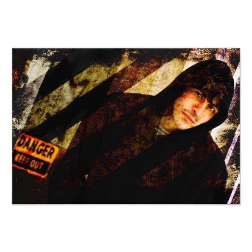 Grungy Tough Textured Photo Print