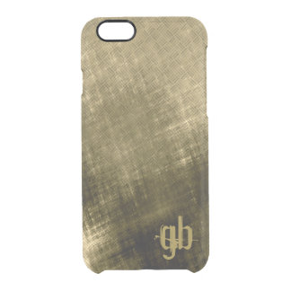 Grungy tweed look khaki black men's iPhone 6 plus case