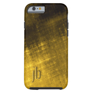 Grungy Tweed men's gold black Tough iPhone 6 Case