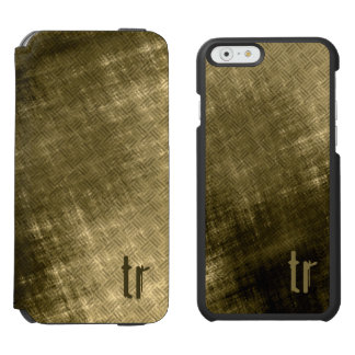 Grungy Tweed olive khaki black Incipio Watson™ iPhone 6 Wallet Case